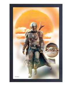 The Mandalorian - Mando & The Child Framed Picture