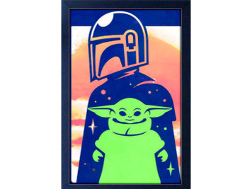 The Mandalorian - The Child Vector Art Framed Picture
