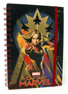 Captain Marvel - Charge Forward Spiral Journal