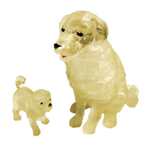 Dog & Puppy 3D Crystal Puzzle