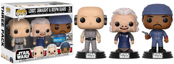 EXCLUSIVE: POP! Star Wars - Lobot, Ugnaught, Bespin Guard 3 Pack