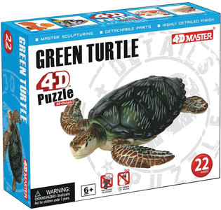 4-D Puzzle - Green Turtle