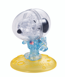Snoopy Astronaut 3D Crystal Puzzle