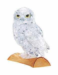 Owl (White) 3D Crystal Puzzle