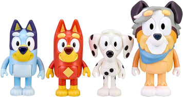 Bluey and Friends 4 Pack Figure