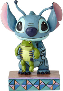 Stitch with Frog Personality Pose Figurine