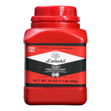 Lalah's curry powder in red container