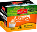 QUIK TEA TURMERIC GINGER CHAI UNSWEETENED 10 PUCHES