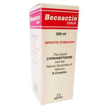 Becoactin Syrup in Red and White box
