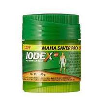 Iodex in plastic container