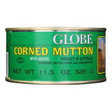 Corned mutton inn container