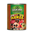 SPUR TREE ACKEE 19oz packaged in an aluminum can with Red and Green labeling