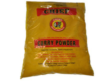 Chief Curry Powder packaged in clear plastic with Red and Black labeling