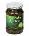 Matouk's Kuchela 13.5oz packaged in a glass bottle with Green and Yellow labeling