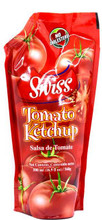 Swiss Tomato Ketchup 17 oz packaged in a Red plastic container