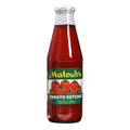 Matouk's Tomato Ketchup in a glass bottle with Red and Green labeling