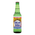 Bedessee west indian cream soda WIQ 12 OZ in a glass bottle with Yellow and White labeling Guyana cream soda
