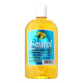 Limacol original 500ml packaged in a glass bottle with Blue labeling and a White cap  The Freshness of a breeze in a bottle