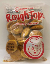 RoughTops Biscuits 142 grams packaged in clear plastic with Red labeling.