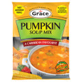 Grace Pumpkin Flavored Soup Mix 45 grams  Delicious Soup Mix packaged in an orange and green packet