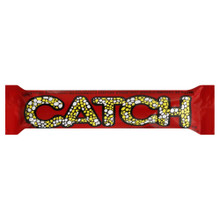 CATCH CHOCOLATE BAR 50 GRAMS  Chocolate Bar wrapped in Red and Yellow Plastic Packaging