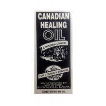 Canadian Healing Oil 60 mL  Black and White Rectangle Packaging