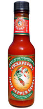 Pickapeppa Hot Pepper Sauce 5 FL. Oz.   Glass Bottle with Red and Green label