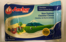 Anchor New Zealand Cheddar Cheese 500 grams   Blue and Green plastic packaging