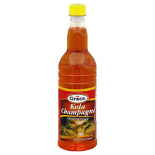 Grace Kola Champagne Flavored Syrup 25.5 Fl.Oz.   Plastic Bottle with Red and Orange Label