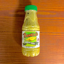 Bertie's Pimento Sauce 300 mL  in a plastic bottle with a green cap