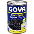 Goya Black Beans 15.5 oz.  in a can with Blue and White labeling