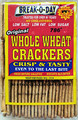 Break-O-Day Original Whole Wheat Crackers