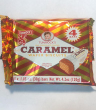 Tunnock's Caramel Wafer Biscuit 4.2 oz in plastic packet