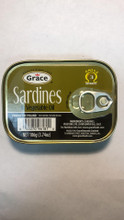 Grace Sardines in Vegetable Oil 106 grams in a tin can