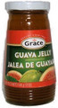 Grace Guava Jelly packaged in a glass container with Green and Red labeling