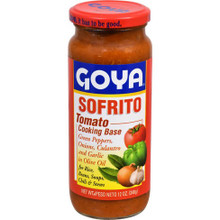 Sofrito in a glass bottle