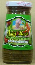 Aunt May Seasoning in glass bottle