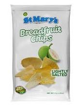 Breadfruit chips in white packet