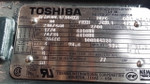 Toshiba  30 HP 1770 RPM 230/460 volt 286TC frame TEFC lks1010141 New surplus