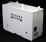 Sonozaire Odor Neutralizers are industrial ozone generators. They produce ozone electronically from oxygen in the air. These units do not use any chemicals, operate unattended and need only occasional cleaning and maintenance. They contain electrical and electronic components to generate ozone, using only small amounts of electricity.  Sonozaire units are built of heavy-duty aluminum construction. Industrial ozone generators are designed to be used in uninhabited areas, or used at volumes that are limited by OSHA or EPA regulations. All models, except the 5G, allow users to adjust the ozone output according to the level of odor and the desired duration of treatment. The model 5G has an adjustable timer with continuous maximum output.  Cabinet Dimensions (L x W x H in.) (L x W x H cm.)  36 x 27 x 14 91 x 69 x 36  Weight (lbs.) (kg)  85 38.6  Mechanical Specifications   Power (watts)                260  Blower Air Volume @ 60hz (cfm)                100 @ 50hz (cu m per hr)     136