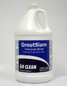 GROUT SLAM is a powerful tile and grout cleaner that quickly and easily emulsifies and loosens the toughes soils and stains for easy removal. Grout Slam is also very effective for general floor cleaning and maintenance, wall cleaning and all other general hard surface cleaning. Grout Slam's special formulation of heavy-duty detergents, solvents and surfactants is ideally suited for fire restoration purposes.  Dilution: 1:1 or 128oz to a gal. of water.