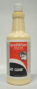 SPOTWISER CITRUS GEL is a unique blend of thickened solvents, allowing the spotter to work on the spill without penetrating the carpet back. Works on ink, gum, tar and most oil-based spills.