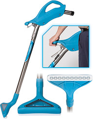 Easy operation, fast extraction, more profit  The Extraction Tool delivers powerful flood extraction FAST. The unit's patent-pending glide creates a powerful seal to compress the carpet and maximize water removal on all carpet types. A convenient vacuum break lever means no awkward repositioning to maintain extraction. Features an easy-to-clean rotomolded head with a clear view window and a replaceable glide and an ergonomic handle for fatigue-free operation even on the largest projects. Item #F511 $595 Suggested List U.S. Funds 	    FeaturesSpecsAccessoriesDocumentation  Product Features      Ergonomic rotomolded handle for all-day comfort – use right- or left-handed.     Save your back! Instant vacuum release lever means there's no need to tilt or reposition tool.     Easy-clean rotomolded head with replaceable glide.     View window in head shows extraction progress; may be removed for cleaning.     Rugged stainless steel tube.   Product Specifications   Model	 	Dri-Eaz Extraction Tool F511 Weight	 	8.2 lbs. | 3.7 kg Dimensions 	 	Head width: 14 in. | 35.6 cm Handle height: 42 in. | 106.7 cm Total length: 52 in. | 132.1 cm Tube thickness: 0.035 in. | 0.089 cm Construction	 	  Stainless steel tube and vacuum break assembly; rotomolded handle and extraction head; plastic extraction guide