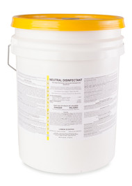 This product is an industrial cleaner, which disinfects as it cleans. It is especially designed for schools, medical institutions, and industry. A single application removes dirt and grime, and disinfects. It is virucidal, fungicidal, and inhibits the growth of mold and mildew, and their odors. When used as directed, the hard surface disinfecting action of this product will reduce the hazard of cross contamination. When used as directed, it will deodorize surfaces in toilet areas, behind and under sinks and counters, garbage cans, and garbage storage areas, and other places where bacterial growth can cause malodors. This product is a proven one-step, cleaner and disinfectant, sanitizer, fungicide, mildewstat, and virucide in the presence of moderate amounts of organic soil.
