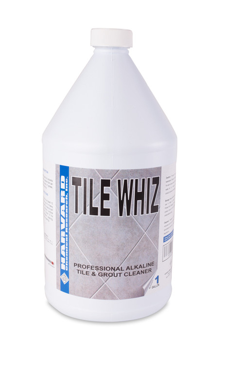 A heavy duty, high alkaline, tile cleaner and degreaser concentrate. This water-based cleaner is extremely effective in removing grease, oil and soils from glazed and unglazed ceramic tile, saltillo and quarry tile as well as concrete, brick, and porcelain