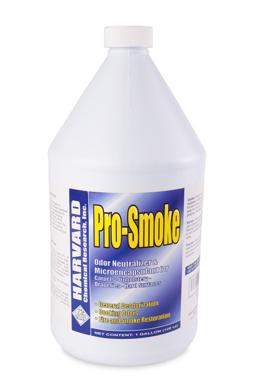 """Pro-Smoke works by micro encapsulation and is not an odor mask or covering agent. Simply speaking, this product """"coats"""" or """"encapsulates"""" foul-smelling matter, seals the contamination and keeps the odor molecules from entering our airspace. It effectively neutralizes odors in carpets, fabrics, cars, boats, bathrooms, kitchens, garbage bins, dumpsters, etc."""