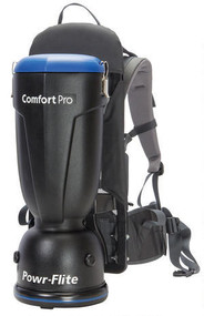 "The 6 qt. Premium Comfort Pro has everything you could want in a backpack vacuum without the larger tank size of 10 qt. models. Get the job done as easily and comfortable as possible with the Premium tool kit, low 62 dBA rating and Active Cooling.  Features: • Premium Model Exclusive: Superior 62 dBA rating • Premium Model Exclusive: Telescoping wand & stretch hose • Premium Model Exclusive: Active Cooling • Powerful 130 CFM and 110"" waterlift • 4-stage HEPA filtration for improved indoor air quality • Tools fit conveniently on waist belt • Ergonomic shoulder harness from Deuter, the #1 hiking and backpack company in the world • Designed to transfer the majority of the weight to the hips, eliminating strain on the back • Each machine is assembled and tested by skilled American workers  Comfort Pro backpacks deliver superior comfort, plus improved cleaning performance and productivity. Independent studies show backpacks clean over 2 1/2 times faster than traditional uprights, and Comfort Pro is engineered to ensure an unparalleled level of operator comfort and efficiency."