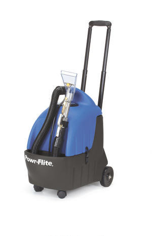 3.5 Gallon Portable Carpet Spotter with Detail Tool and 10' Stretch Hose    The Powr-Spotter is portable, lightweight and extremely powerful. It is perfect for touch-up cleaning and spot removal between scheduled carpet cleanings, and congested areas where larger extractors just won't fit. The PS35 takes the hassle out of cleaning spots before they become major stains. The PS35 is available in three configurations for spot cleaning, small area carpet cleaning and automotive detailing.  Features: • Large 3.5 gallon solution and recovery tanks for extended cleaning between refills • Aluminum telescopic handle makes transporting a breeze and it slides easily back into the unit for storage • Includes automotive detail tool • 10' crushproof vacuum hose