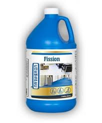 Fission SKU: FTLC4G Product Description Unique Soil Separation Technology detaches bound soils from fibers, then suspends and removes them from even the heaviest traffic areas. Powers through grease, oil and soils Product Specifications • Form: Liquid • SKU Quantity: Case of four 1 gal. / 3.8 L bottles • RTU pH: 11.97 • Unit Size: 1 gal. / 3.8 L bottle Applications Carpet Cleaning with Rotary Tool Carpet Cleaning with Wand
