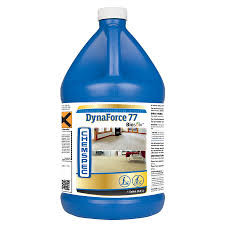 DynaForce 77 with Biosolv Product Description As one of the industry's best-selling liquid carpet cleaning formulations, DynaForce 77 has been delivering the Gold Standard of cleaning for many years. To make a great product even better, DynaForce 77 is now fortified with Biosolv® to break down all types of grease and oils in commercial and residential carpets. Economical and easy to use, DynaForce 77 with Biosolv leaves fibers cleaner, brighter and more resistant to resoiling. Delivers great results even with portable extractors.  Available Sizes • 1 gal. / 3.8 L bottle (LF774G - Case of Four) • 5 gal. / 18.9 L bucket (LF775G - Single) • 55 gal. / 208.2 L drum (LF7755 - Single) Product Specifications • Form: Liquid • RTU pH: 10.79 Applications Carpet Cleaning with Rotary Tool Carpet Cleaning with Wand